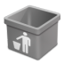 Grey-trash-empty icon