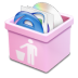 Pink-trash-full icon