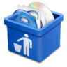 Blue-trash-full icon