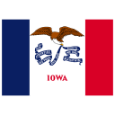 US IA Iowa Flag icon