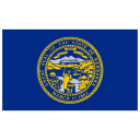 US NE Nebraska Flag icon