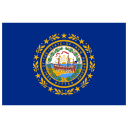US NH New Hampshire Flag icon