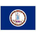 US VA Virginia Flag icon