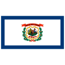 US WV West Virginia Flag icon