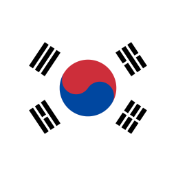 KR South Korea Flag icon