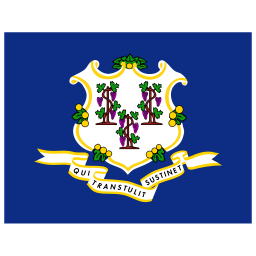 US CT Connecticut Flag icon