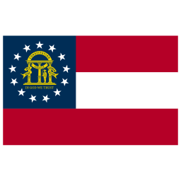 US GA Georgia Flag icon