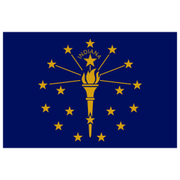 US IN Indiana Flag icon