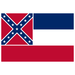 US MS Mississippi Flag icon