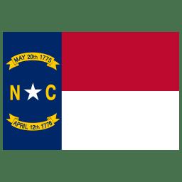 US NC North Carolina Flag icon