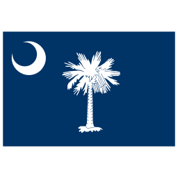 US SC South Carolina Flag icon