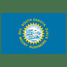 US SD South Dakota Flag icon