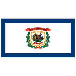 US WV West Virginia Flag icon