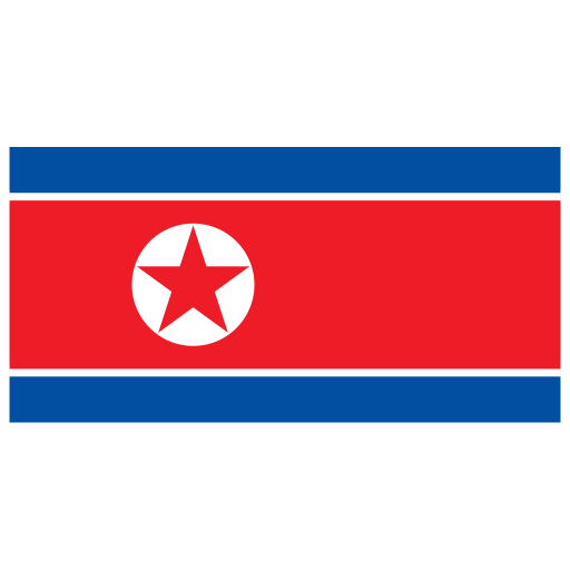 KP North Korea Flag icon