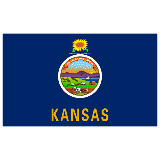 US-KS-Kansas-Flag icon