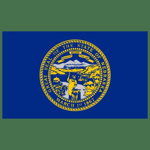 US-NE-Nebraska-Flag icon