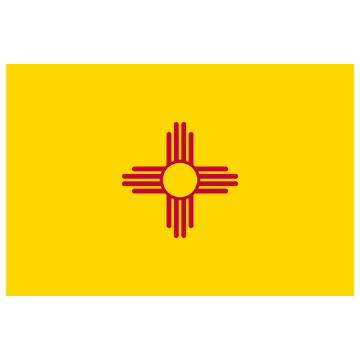 US NM New Mexico Flag icon