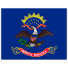US-ND-North-Dakota-Flag icon