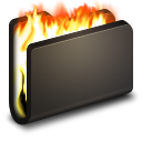 Burn Black Folder icon