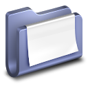 Documents Blue Folder icon