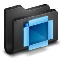 Dropbox-Black-Folder icon