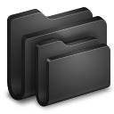 Folders Black Folder icon