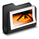 Photos Black Folder icon