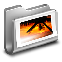 Photos Metal Folder icon