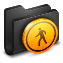 Public Black Folder icon