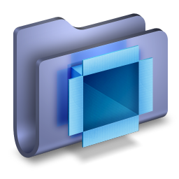 DropBox Blue Folder icon