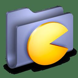 Games Blue Folder icon