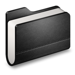 Library Black Folder icon