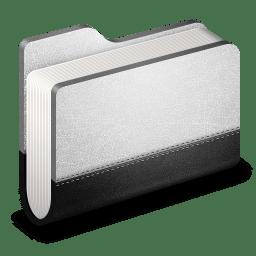Llibrary Metal Folder icon