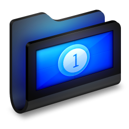 Movies Black Folder icon