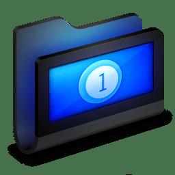 Movies Black Folder icon