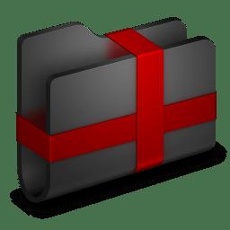 Package Black Folder icon