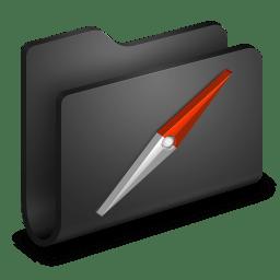 Sites Black Folder icon