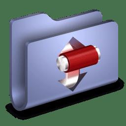 Torrents Blue Folder icon