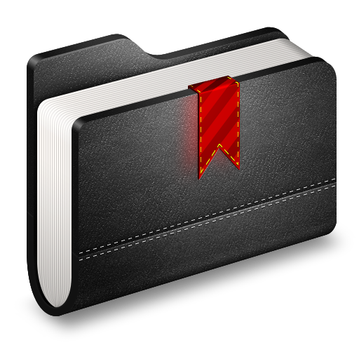 Bookmark Black Folder icon