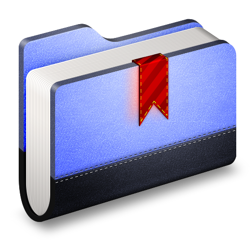 Bookmark-Blue-Folder icon