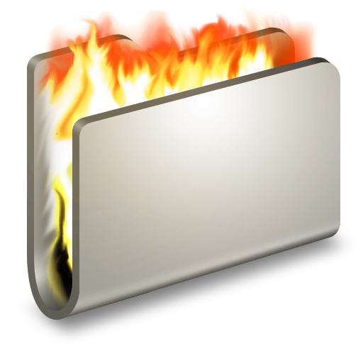 burn metal folder icon alumin folders iconset wil nichols