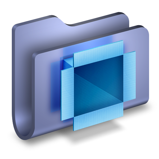 DropBox-Blue-Folder icon