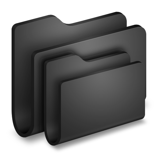 Folders-Black-Folder icon