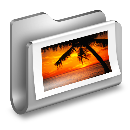 Photos-Metal-Folder icon