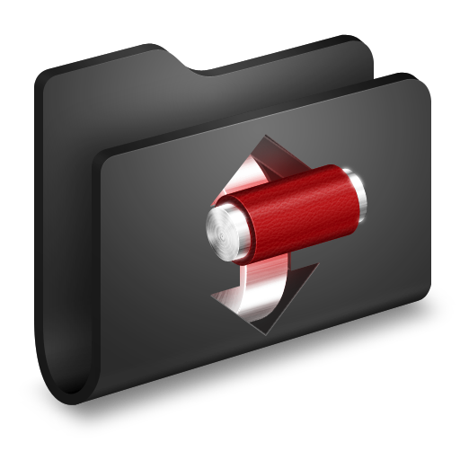 Torrents Black Folder icon