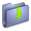 Downloads Blue Folder icon