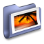 Photos Blue Folder icon