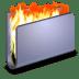 Burn-Blue-Folder icon