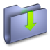 Downloads-Blue-Folder icon