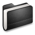Library-Black-Folder icon